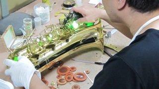 ヤナギサワサックス修理 管楽器修理
